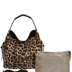 My Bag Lady Online Bags - Zebra Perforated Handbag and Crossbody Set